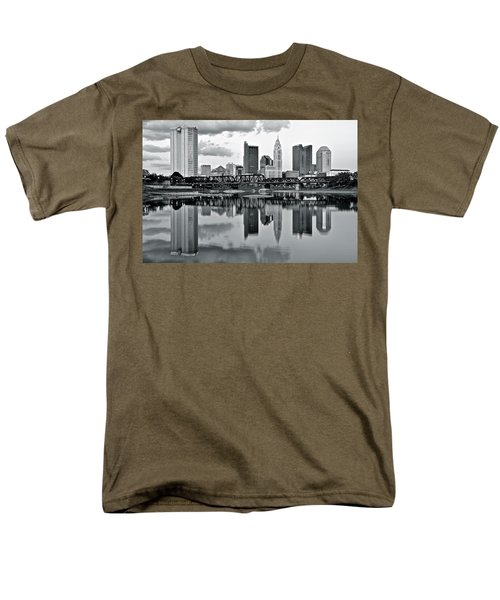 Charcoal Columbus Mirror Image Men's T-Shirt  (Regular Fit) by Frozen in Time Fine Art Photography