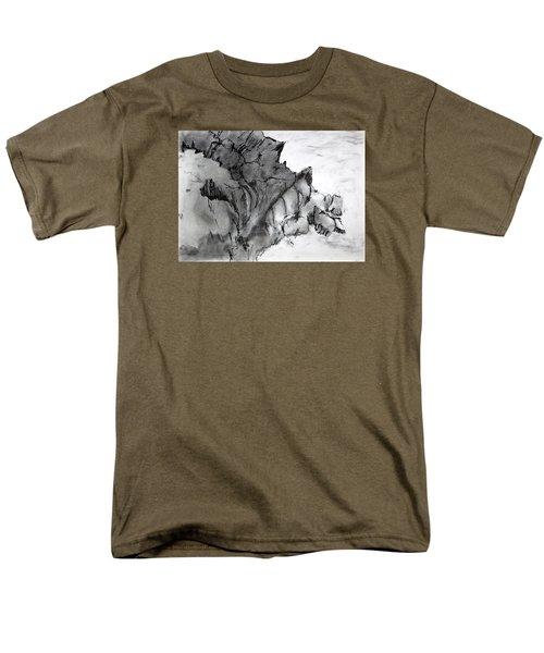 Charcoal Sea Rocks Men's T-Shirt  (Regular Fit)
