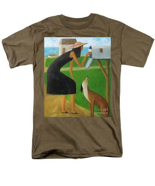 Men's T-Shirt  (Regular Fit) featuring the painting Checking The Box by Glenn Quist