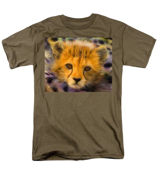 Cheetah Cub Men's T-Shirt  (Regular Fit) by Caito Junqueira