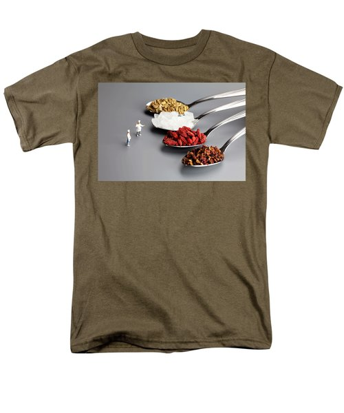 Chef Discussing Cooking Recipes Men's T-Shirt  (Regular Fit) by Paul Ge