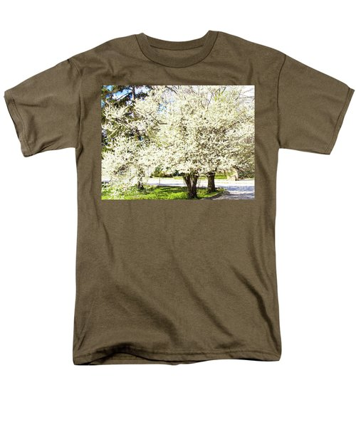 Cherry Trees In Blossom Men's T-Shirt  (Regular Fit) by Irina Afonskaya