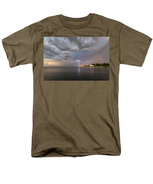 Men's T-Shirt  (Regular Fit) featuring the photograph Chesapeake Bay Rainbow Lighting by Jennifer Casey
