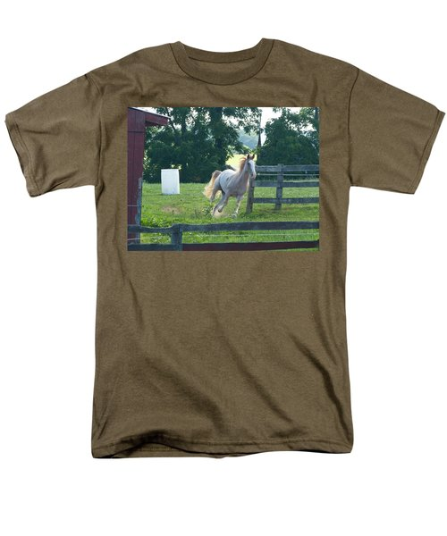 Chester On The Run Men's T-Shirt  (Regular Fit) by Donald C Morgan