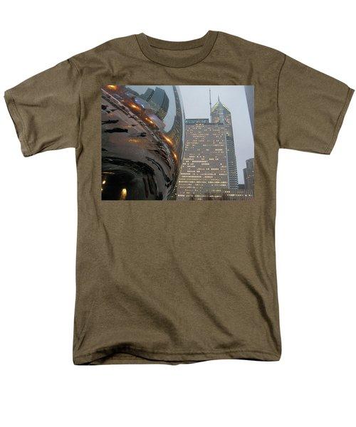 Men's T-Shirt  (Regular Fit) featuring the photograph Chicago Cloud Gate. Reflections by Ausra Huntington nee Paulauskaite