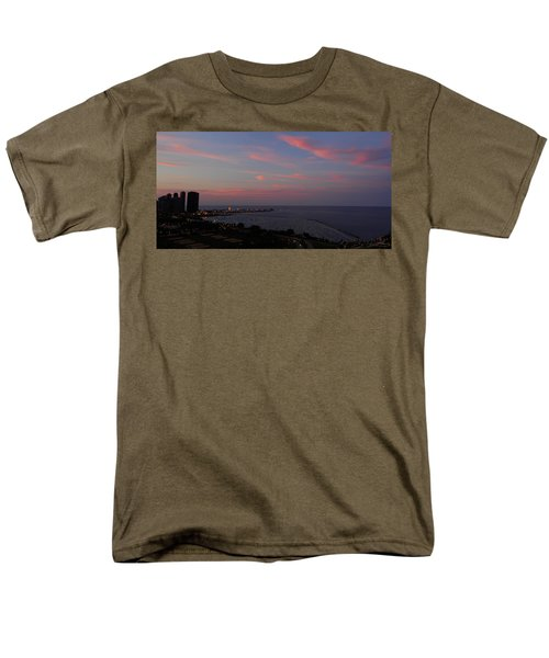Chicago Lakefront At Sunset Men's T-Shirt  (Regular Fit) by Michael Bessler