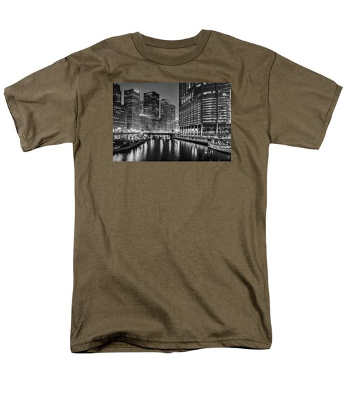 Chicago River View At Night Men's T-Shirt  (Regular Fit) by Andrew Soundarajan