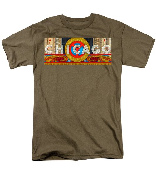 Chicago Theatre Sign Ver2 Dsc2176 Men's T-Shirt  (Regular Fit) by Raymond Kunst