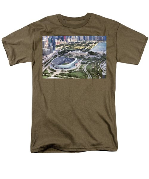 Chicago's Soldier Field Men's T-Shirt  (Regular Fit) by Adam Romanowicz