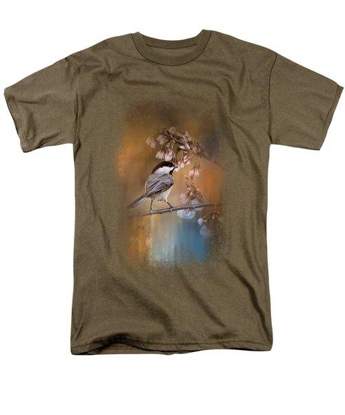 Chickadee In The Garden Men's T-Shirt  (Regular Fit) by Jai Johnson