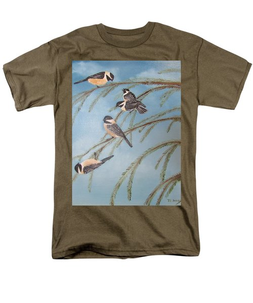 Chickadee Party Men's T-Shirt  (Regular Fit) by Thomas Janos