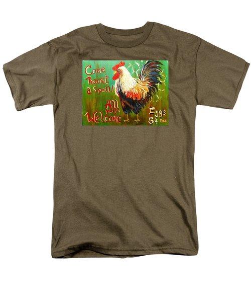 Chicken Welcome 3 Men's T-Shirt  (Regular Fit)