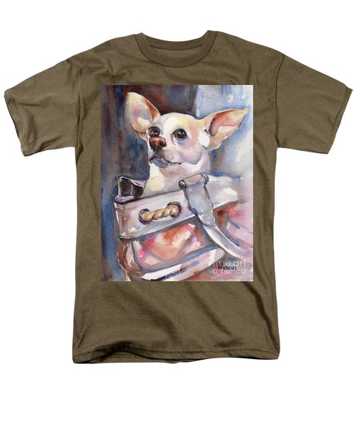 Chihuahua Men's T-Shirt  (Regular Fit) by Maria's Watercolor