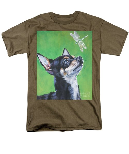 Chihuahua With Dragonfly Men's T-Shirt  (Regular Fit) by Lee Ann Shepard