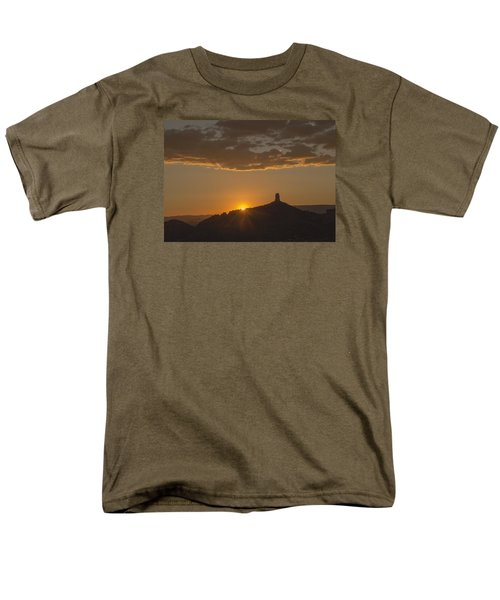 Chimney Rock Sunset Men's T-Shirt  (Regular Fit) by Laura Pratt