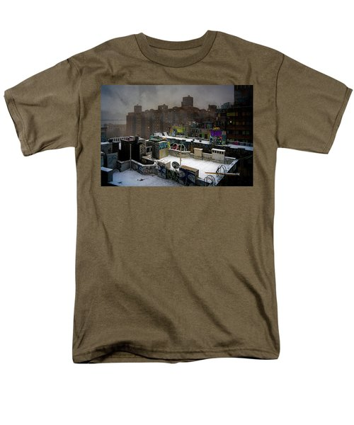 Men's T-Shirt  (Regular Fit) featuring the photograph Chinatown Rooftops In Winter by Chris Lord