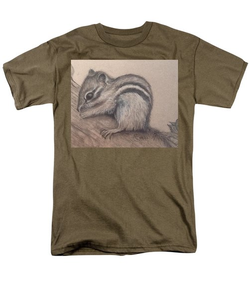 Chipmunk, Tn Wildlife Series Men's T-Shirt  (Regular Fit) by Annamarie Sidella-Felts