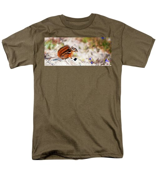 Men's T-Shirt  (Regular Fit) featuring the digital art Chipper by Timothy Hack