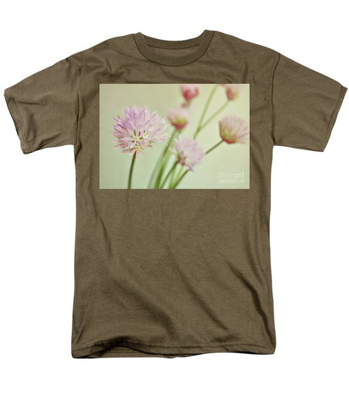 Men's T-Shirt  (Regular Fit) featuring the photograph Chives In Flower by Lyn Randle