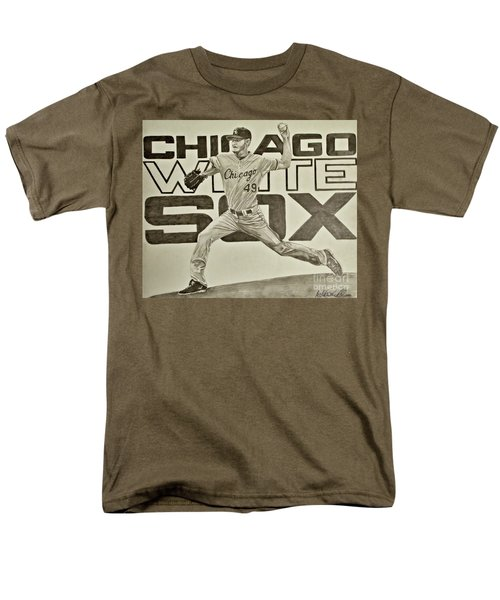 Men's T-Shirt  (Regular Fit) featuring the drawing Chris Sale by Melissa Goodrich