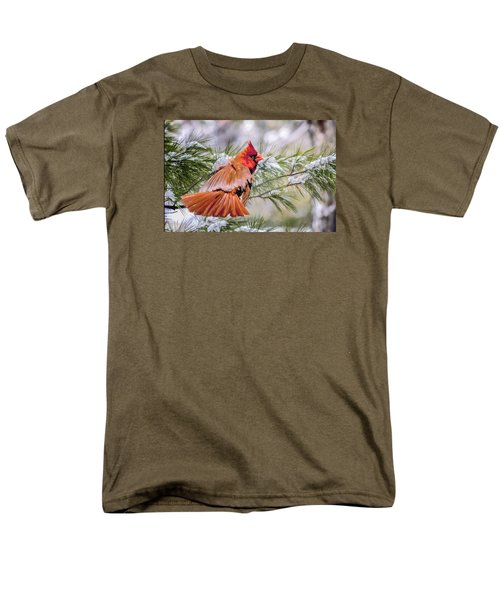 Men's T-Shirt  (Regular Fit) featuring the photograph Christmas Cardinal by Brian Tarr