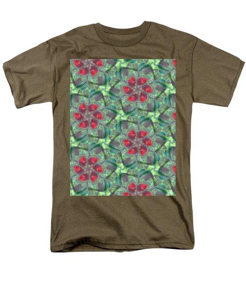 Christmas Flowers Men's T-Shirt  (Regular Fit) by Maria Watt