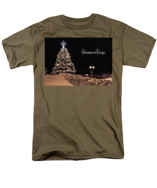 Men's T-Shirt  (Regular Fit) featuring the photograph Christmas In Oswego by Everet Regal