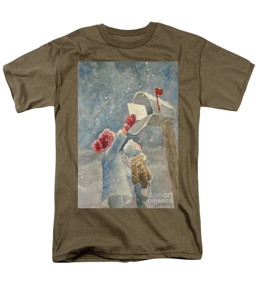 Christmas Letter Men's T-Shirt  (Regular Fit) by Marilyn Jacobson