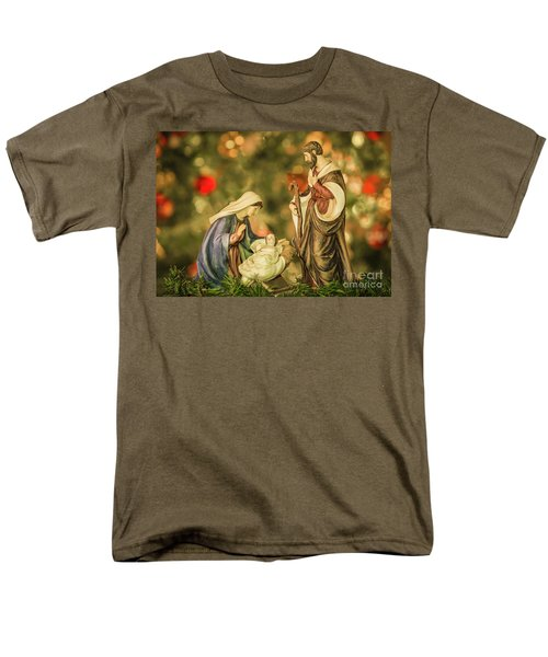 Christmas Nativity Men's T-Shirt  (Regular Fit) by John Roberts