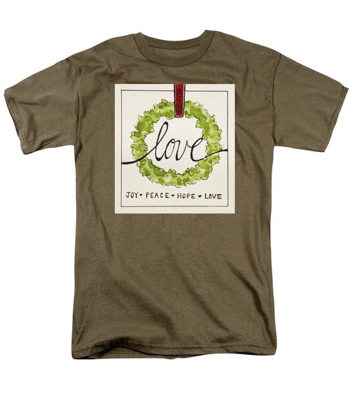 Christmas Wreath Men's T-Shirt  (Regular Fit) by Elizabeth Robinette Tyndall