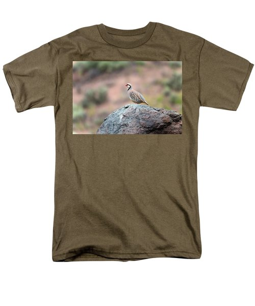 Men's T-Shirt  (Regular Fit) featuring the photograph Chukar Partridge 2 by Leland D Howard