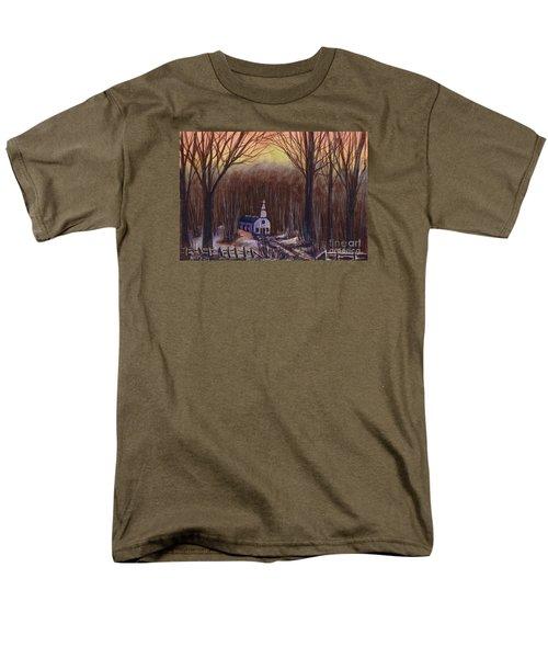 Church In The Woods  Men's T-Shirt  (Regular Fit)