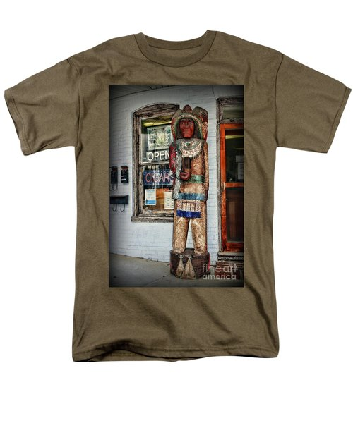 Men's T-Shirt  (Regular Fit) featuring the photograph Cigar Store Indian by Paul Ward