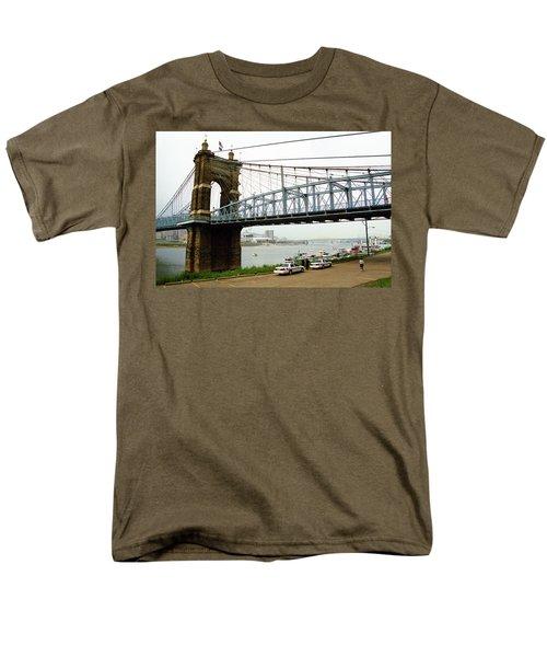 Cincinnati - Roebling Bridge 5 Men's T-Shirt  (Regular Fit) by Frank Romeo