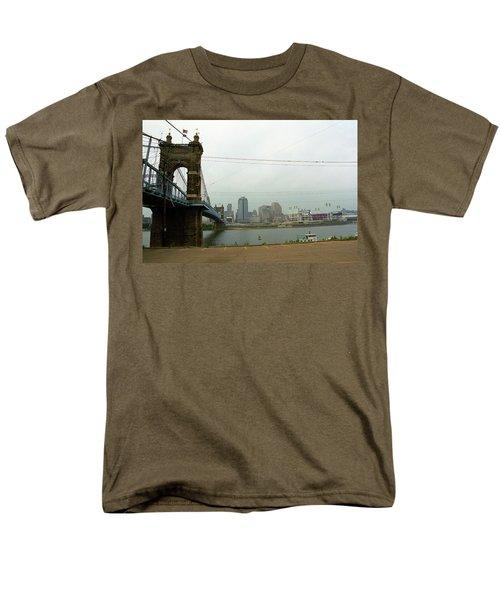 Cincinnati - Roebling Bridge 7 Men's T-Shirt  (Regular Fit) by Frank Romeo
