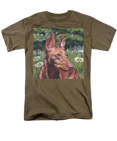 Men's T-Shirt  (Regular Fit) featuring the painting Cirneco Dell'etna by Lee Ann Shepard