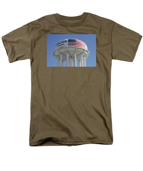 City Of Cocoa Water Tower Men's T-Shirt  (Regular Fit) by Bradford Martin
