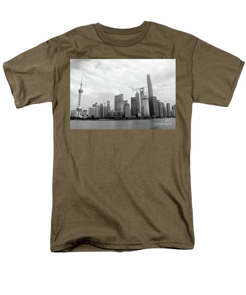Men's T-Shirt  (Regular Fit) featuring the photograph City Skyline by MGL Meiklejohn Graphics Licensing
