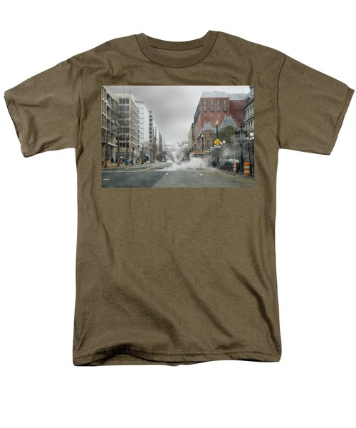 Men's T-Shirt  (Regular Fit) featuring the photograph City Street On A Rainy Day by Francesa Miller