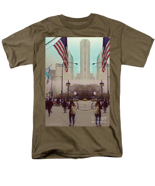 Cityscape With A Bit Of Fog Men's T-Shirt  (Regular Fit) by Kathie Chicoine