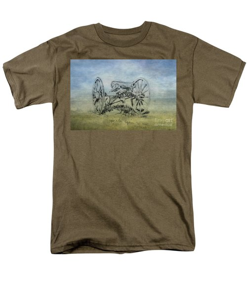 Civil War Cannon Sketch  Men's T-Shirt  (Regular Fit) by Randy Steele