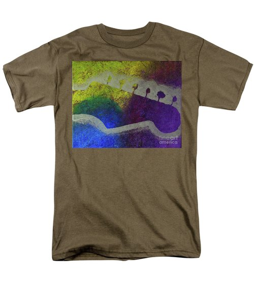 Men's T-Shirt  (Regular Fit) featuring the drawing Classic Rock by Melissa Goodrich