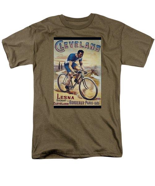 Cleveland Lesna Cleveland Gagnant Bordeaux Paris 1901 Vintage Cycle Poster Men's T-Shirt  (Regular Fit) by R Muirhead Art