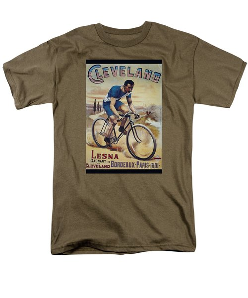 Cleveland Lesna Cleveland Gagnant Bordeaux Paris 1901 Vintage Cycle Poster Men's T-Shirt  (Regular Fit)