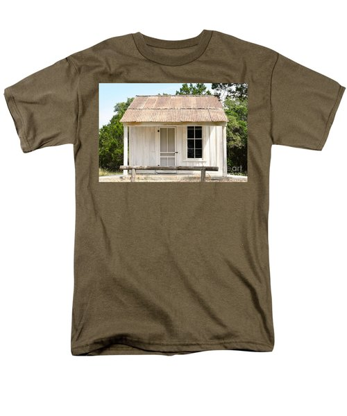 Men's T-Shirt  (Regular Fit) featuring the photograph Clint's Cabin - Texas - Close-up by Ray Shrewsberry