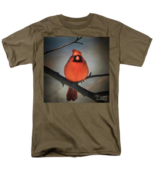 Men's T-Shirt  (Regular Fit) featuring the photograph Close Encounter On A Blustery Day by Lois Bryan