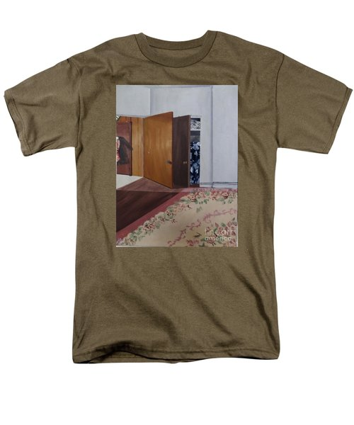 Men's T-Shirt  (Regular Fit) featuring the painting Closet Doors by Lyric Lucas