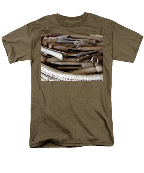 Clothes-pins Men's T-Shirt  (Regular Fit) by Lainie Wrightson
