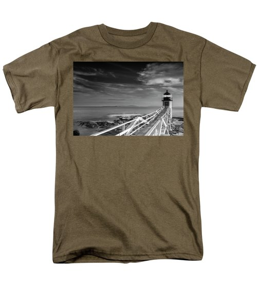 Men's T-Shirt  (Regular Fit) featuring the photograph Clouds Over Marshall Point Lighthouse In Maine by Ranjay Mitra