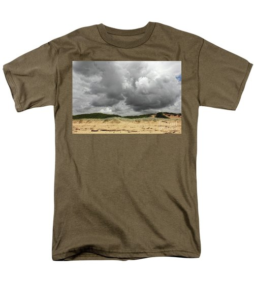 Men's T-Shirt  (Regular Fit) featuring the photograph Cloudy Beach II By Kaye Menner by Kaye Menner